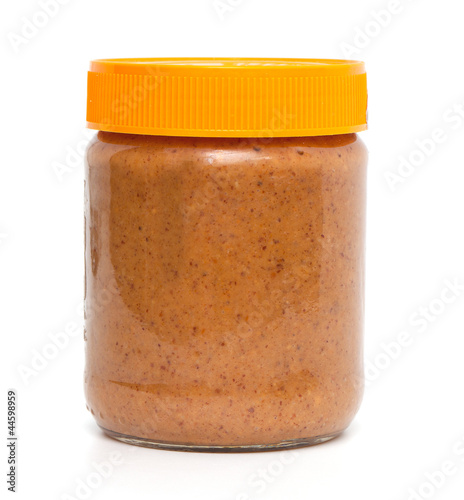 closed jar of peanut butter