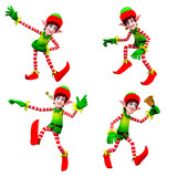 dancing elves poster