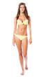 Sexy woman in yellow bikini