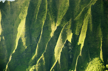 Kalalau Valley on the Na Pali coast. Hawaiian island of Kauai.