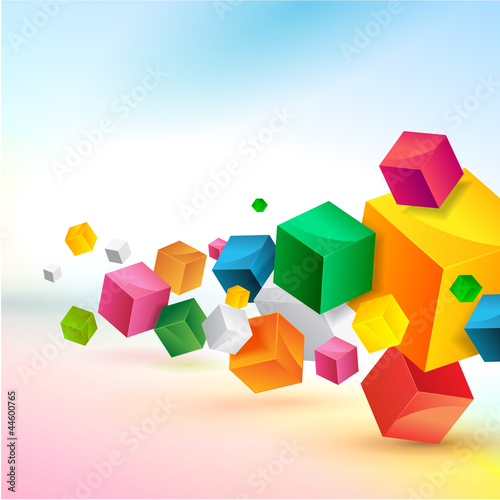 Fototapety, obrazy : Abstract colorful background design
