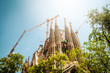 Sagrada Familia in Barcelona, Spain, Europe.