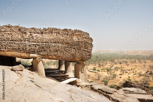 Toguna in a Dogon village, Mali, Africa.