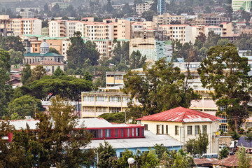 Aerial view of Addis Ababa