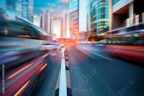 dynamic street in modern city - 44602368
