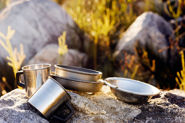 camping cookware, outdoor trail adventure
