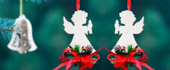 Christmas decoration of handmade angels