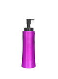 Purple cosmetic bottle isolated on the white