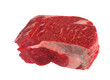 Raw meat steak isolated on white