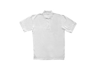 White Polo t-shirt isolated