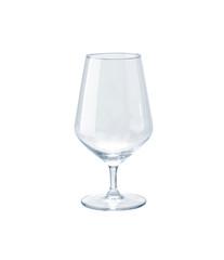 Empty wineglass isolated