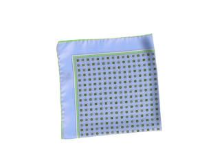 Blue and green handkerchief isolated on white