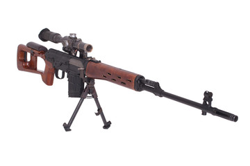 SVD sniper rifle isolated on a white background