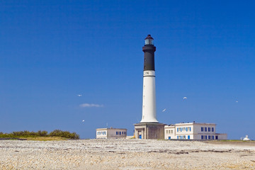 grand lighthouse of island Sein, France.
