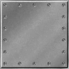 A Metal Background with Border of Screws