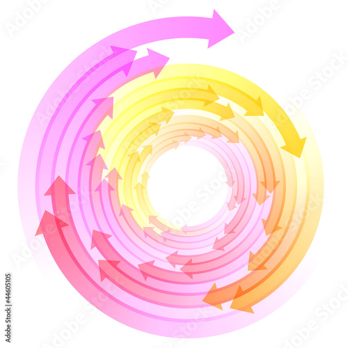 Rotating Arrows background #Vector