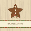 Brown Christmas Star Background