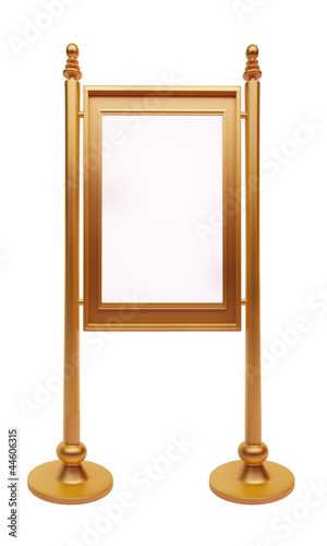 wooden frame isolated with white