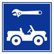 Señal reparacion de jeep