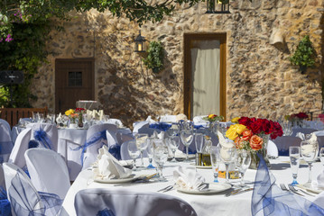 Wedding Reception outdoors in Spain