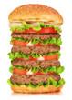 Very Big Hamburger isolated on white background
