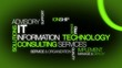 Information technology consulting IT green tag cloud video