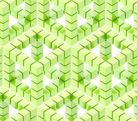 Seamless hexagon cube background texture