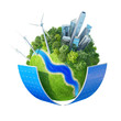 Ecology planet concept. Earth collection. Isolated.