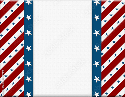 Red and White American celebration frame for your message or inv
