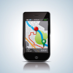 gps movile itinerary