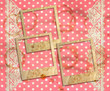 polka dot background with lace border