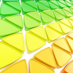 Abstract background made of glossy triangles