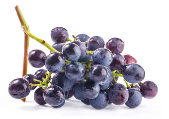 Ripe grapes, Isolated on white background