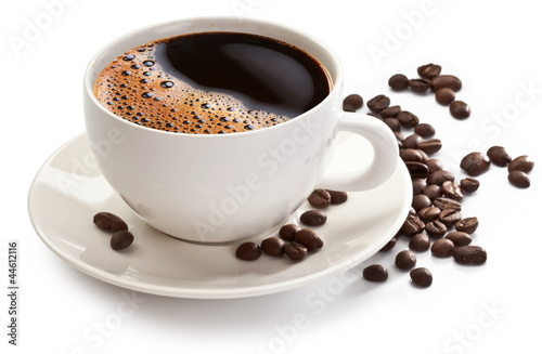 Coffee cup and beans - 44612116
