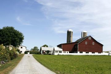 Amish farm and barn