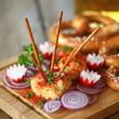 traditionelle bayrische Brotzeit mit Obatzter
