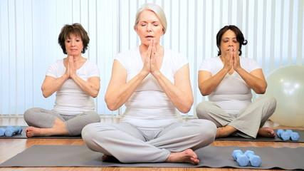 Senior Ladies Gym Yoga Class