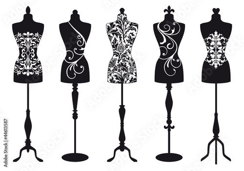 fashion mannequins, vector set - 44613587