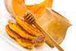 pumpkin pancakes with honey