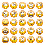 25 yellow Emoticons