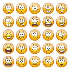 25 yellow Emoticons