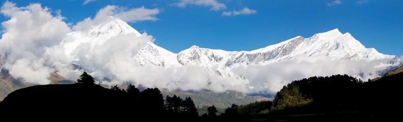 view from annapurna himal to dhaulagiri himal