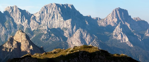 morning view from Karnische Alpen or Alpi Carniche