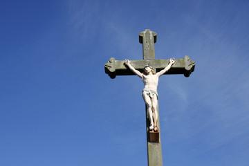 Jesus Christ crucifixion sculpture