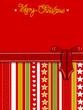 Weihnachten, Karte mit Geschenk