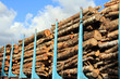 Wood Stacked on a Railcar