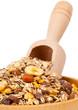 Muesli in bowl with scoop