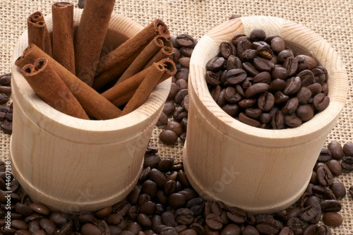 Coffee and Cinnamon Background