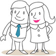 Figur, Mann, Frau, Paar, Arm in Arm