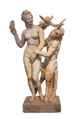 Statue of Aphrodite, Pan and Eros (100 B.C.) from Delos, Greece